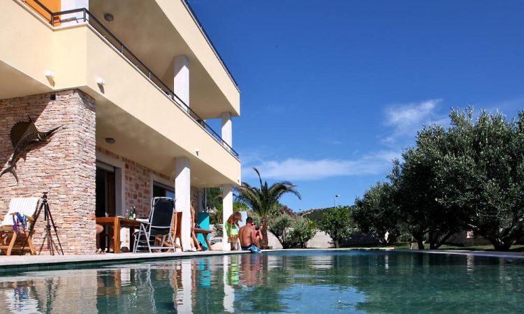 Villa Fora Accommodation, Outdoor pool and garden, Hvar Croatia