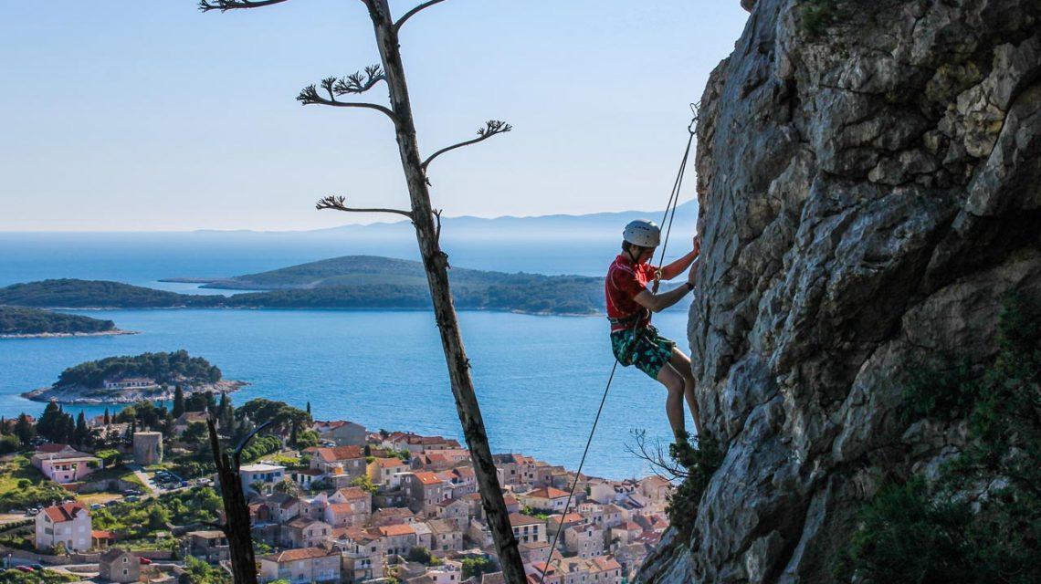 Island of Korcula, Climbing, Adriatic sea, Croatia